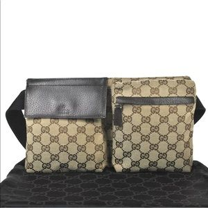 Authentic Gucci brown waist bag fanny pack